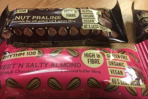 Rhythm108 unveils gluten-free and vegan praline bars