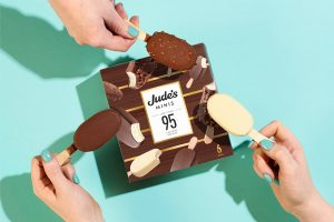 Jude's lower calorie ice cream now on a stick