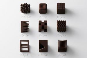 textured chocolate