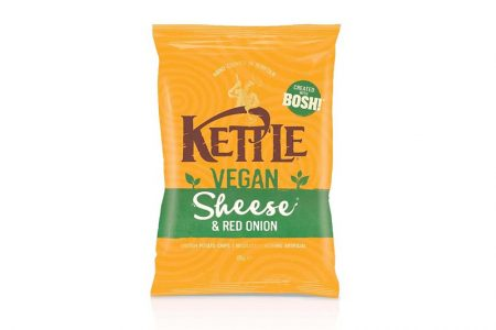 Kettle launches vegan cheese & onion crisps