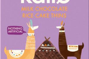 Milk chocolate rice cake thins