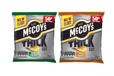 McCoy's launches first thick cut flat crisp