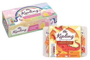 Mr Kipling launches dragon and unicorn themed cakes