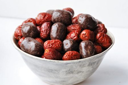 Chocolate coated red dates from Abakus Foods